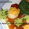 Coquilles saint-jacques en chapelure d'orange