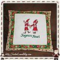 Broderie de noël : christmassy messengers, finie :)