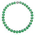 A unique jadeite <b>bead</b> and diamond necklace