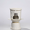 A Ding miniature model of tea brazier and skillet, Northern Song dynasty (960-1127)