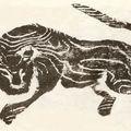 Tigre, 1576, estampage, Maison communale de Lô Hanh (Ha Tây).