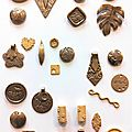 Bronze clay class/cours au pôle bijou - photos!