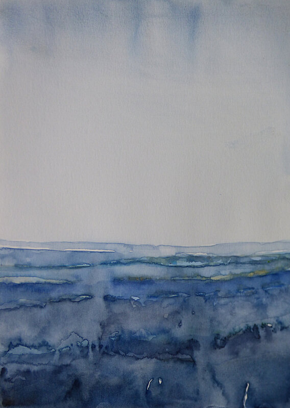 Atmospheric blue, 2017 aquarelle, 21 x 30 cm