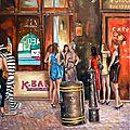 London kabaret disco - huile sur toile - 73 cm x 60 cm