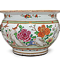 A famille rose fish bowl, qianlong period, circa 1740