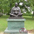 Statue of mahatma gandhi, geneva, switzerland.