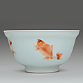 An iron-red and gilt-decorated <b>bowl</b>, Kangxi period (1662-1722)