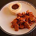 Filet de poulet caramélisé (miel, <b>sauce</b> <b>soja</b> et Melfor)