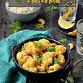Curry de chou-fleur et petits pois #vegan