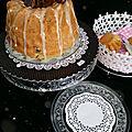 Moelleux aux dattes, fleur d'oranger et noix