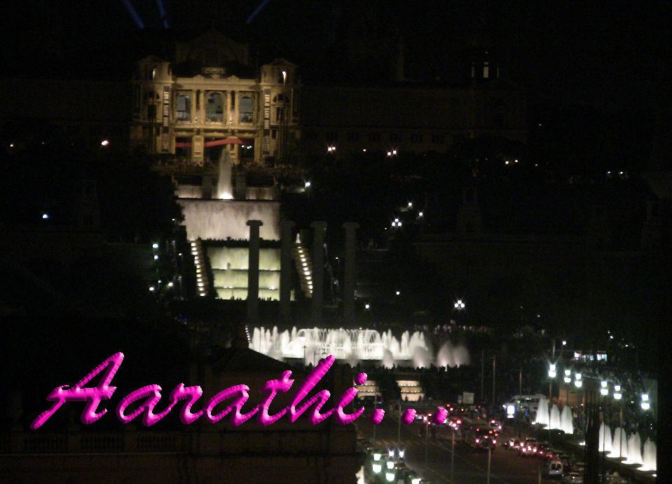 Magic Fountain of Montjuïc taken from Arenas