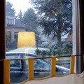Il neige en belgique...