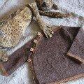 Brassière raglan en lapaga et boutons petits-beurre, modèle et laine La Droguerie