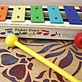Xylophone à tirer Fisher Price vintage