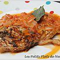 Côtes de veau sur compotée de tomates aux oignons roses de roscoff et à la sauge