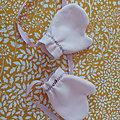 Moufles en polaire doudou rose pâle