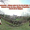 Fontevraud - Chinon entre le 19 et le 24 juin 1190, Richard Cœur de Lion, Aliénor <b>d</b>'Aquitaine - Charte de la Cigogne