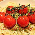 Tomates cerises poêlées aux herbes de provence