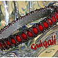 Bracelet Honey Comb rouge (5)