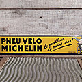 Ancien Carton <b>Publicitaire</b> Pneu Vélo Michelin