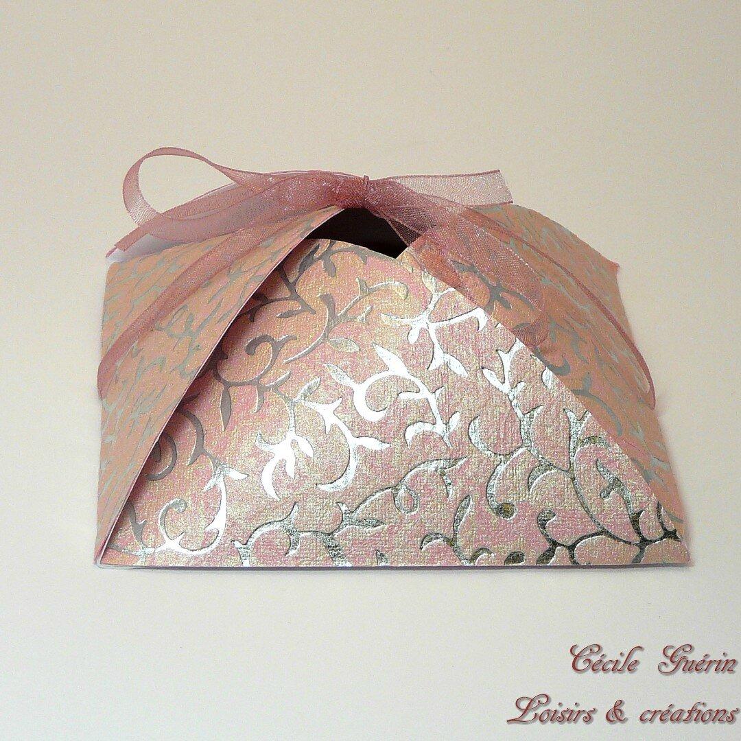 Carte-écrin Dôme rose