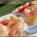 Cocktail de crevettes fruité