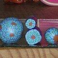 Cane fleur turquoise
