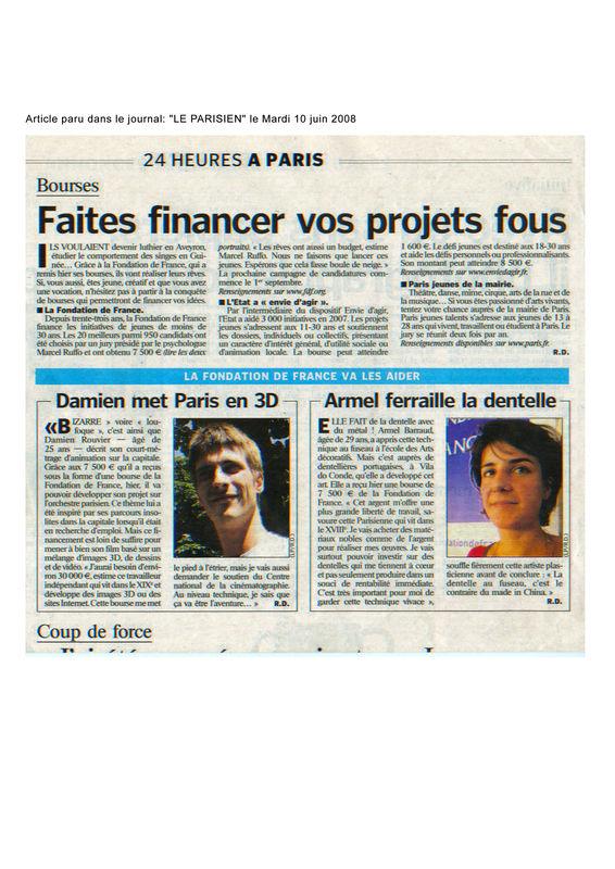 Bourse de la fondation de France
