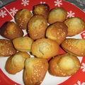Mini madeleines au thé matcha