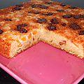 Gâteau aux noisettes abricots et chunks chocolat caramel