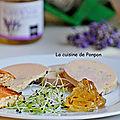 <b>Foie</b> <b>gras</b> de canard accompagné de confit de lavande