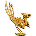 A gold filigree 'Phoenix' ornament for an imperial <b>concubine</b> summer court hat, Qing dynasty, 18th century