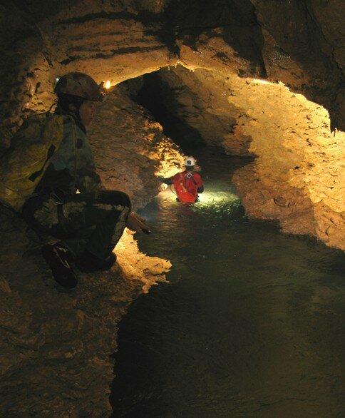 La 1° rivière Ben au pied de l'escalade