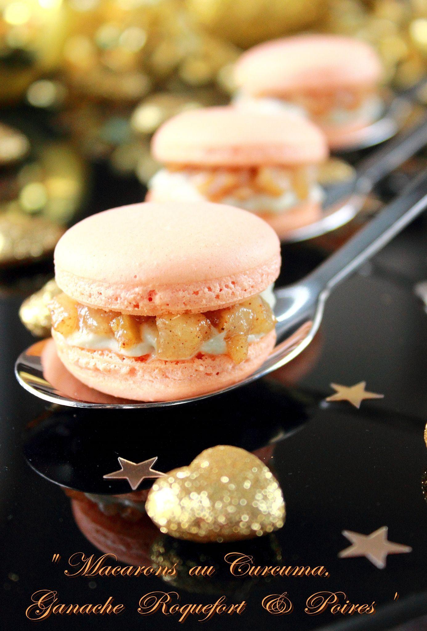 Macaron au curcuma, roquefort & poires5