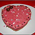 Défis st valentin nathamelie26 : mousse framboise surprise !