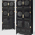 A pair of large zitan compound cabinets and hatchests, <b>sijiangui</b>