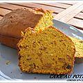 Cake potiron aux ecorces d'oranges confites / pepites de chocolat