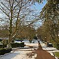 Z-9945 le jardin public de St-Omer en hiver