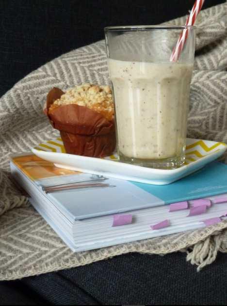 Milk-shake chaud aux poires, noisette et sirop d'érable