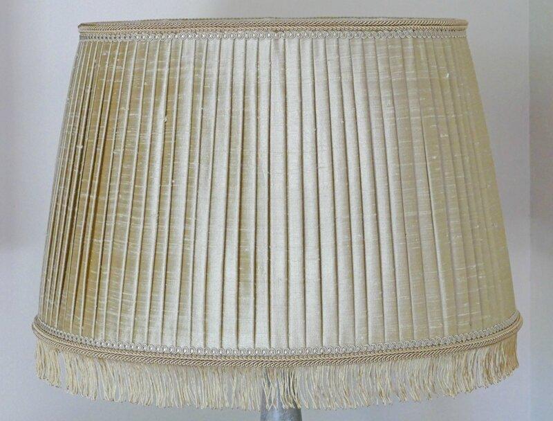 Abat-jour ovale plissé : suite et fin - Perle de lumières - Création ...