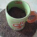 Mug cake chocolat sans lait, sans blanc d'oeufs, sans gluten.