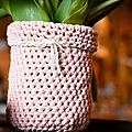 Vase au crochet