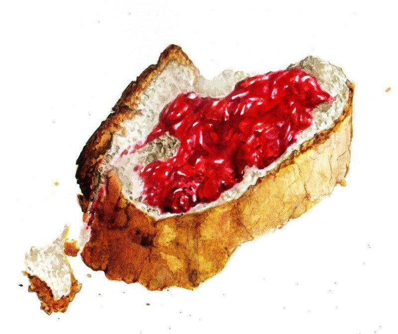 Une Chambre Dessin : Etude doc tartine de confiture peinture book