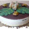 Bavarois fruits exotiques, chocolat blanc
