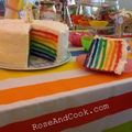 Rainbow cake / un gateau arc-en-ciel ! { recette rainbow cake facile }