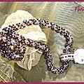 Spirale rope et pendentif Ekla de Pencio
