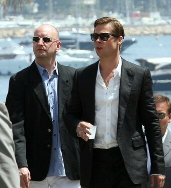 photo call afternoon steven soderberg et Brad Pitt