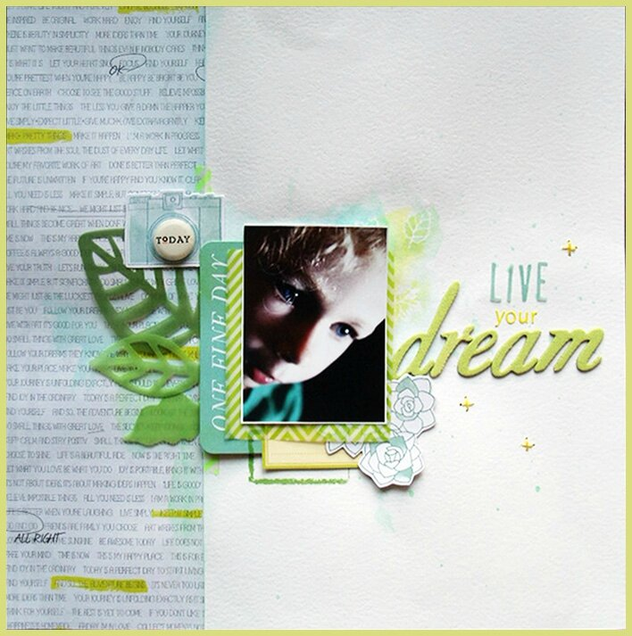 "Page / Layout ""Live Your Dream"""