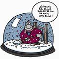 Le chat de geluck et la neige