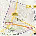 Bron : commune grand-lyonnaise de la rive-gauche du rhône